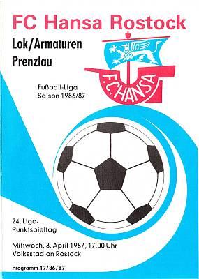 Programm 1986//87 BSG Stahl Eisenhüttenstadt Dynamo Schwerin